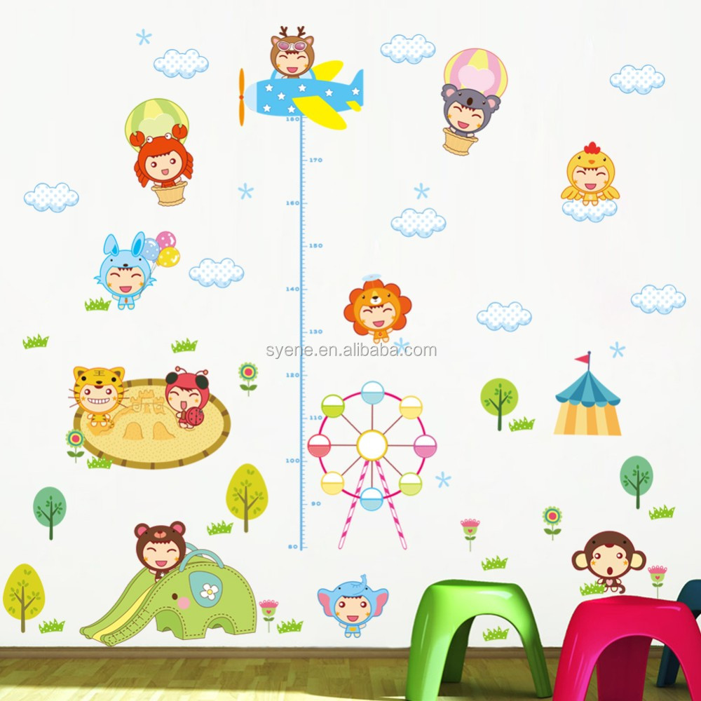 Foam Stickers Kinderkamer.Syene Diy Kids Groei Grafiek Hoogte Muurstickers Kinderkamer