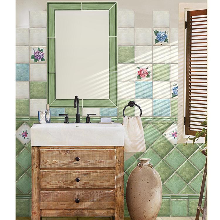 peint la main fleur en cramique mur conseil modle tuile salle de bains en algrie - Modele Ceramique Salle De Bain En Algerie