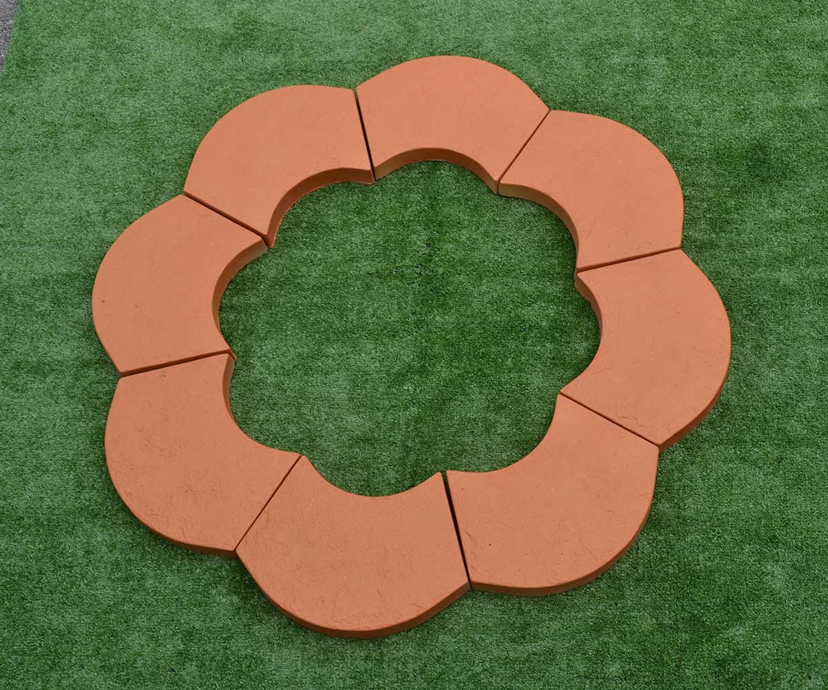 Sold 2pcs PLASTIK MOLDS STONE border Flower garden Garden decor edging #S38