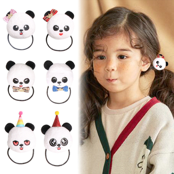 Wholesale Baby Girl Elastic Hair Bands Cute Panda Accessories Hair ...