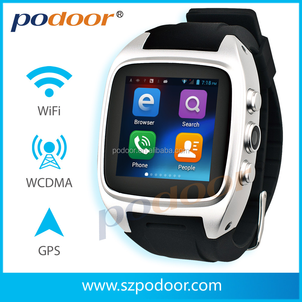 waterproof 1.54 inch Smartwatch cheap bluetooth watch for iphone touch screen TFT lcd smart watch mobile phone white