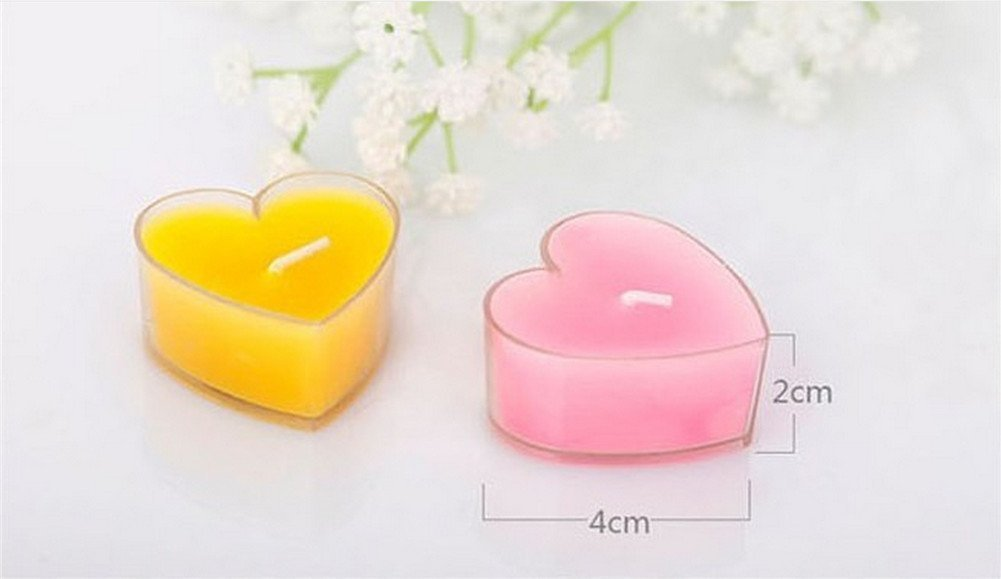 Yarbar 9pcs Creative Heart Shape Candle Love Confession Gift Decoration Wedding Favors