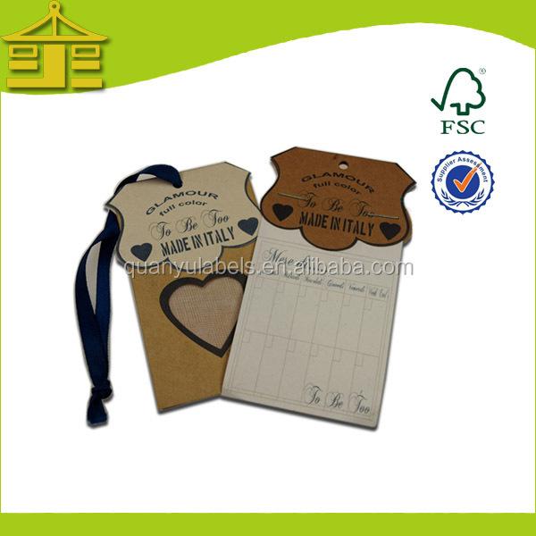 Factory White Paper Hang Tag PrintingFashion String Hang Tag – Hang Tag Template