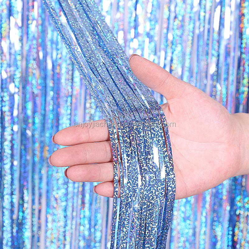 1x2 м металлическая фольга с бахромой занавеска для вечеринки реквизит для фотосессии для украшения вечеринки