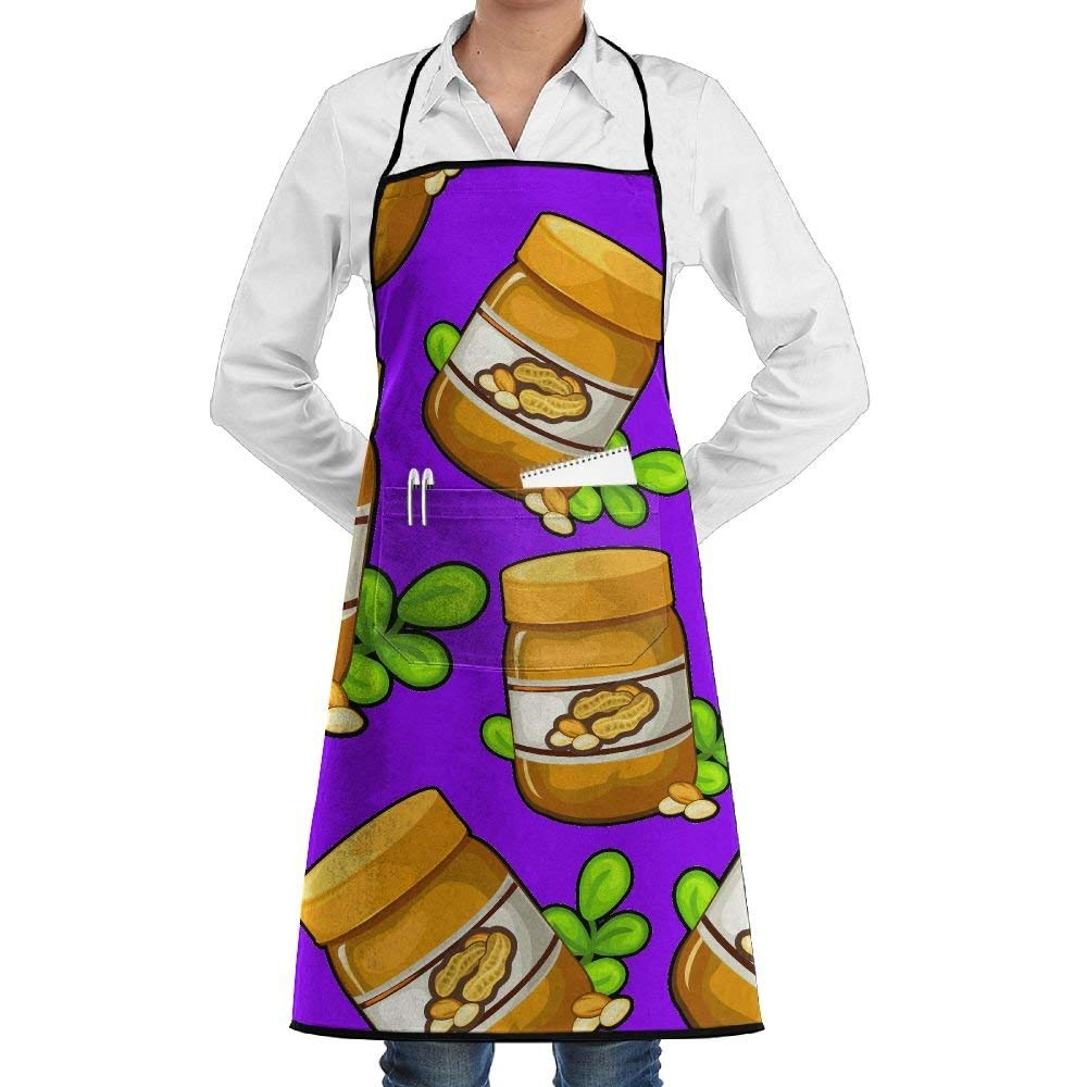 Get Quotations · Peanut Butter Unisex Women Men Professional Grade Chef  Apron For Kitchen With Pocket Adult Apron 67eda41a4