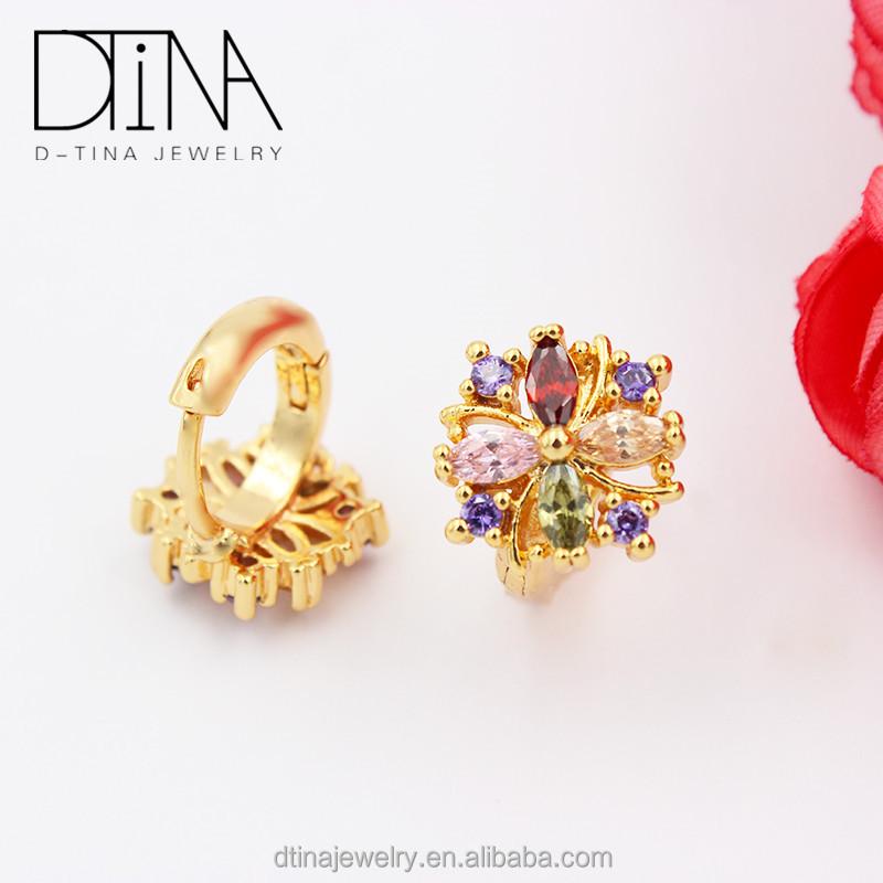 b328771f4 DTINA السعودية الذهب والمجوهرات العديد من الأحجار الكريمة الملونة تألق  أقراط جميلة القرط تصاميم للنساء