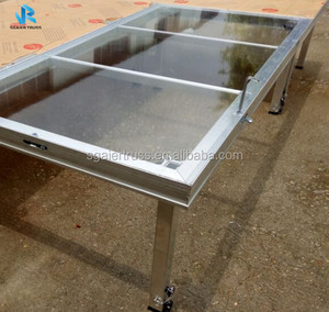 High quality aluminum stage platform,portable stage platform with18mm acrylic board
