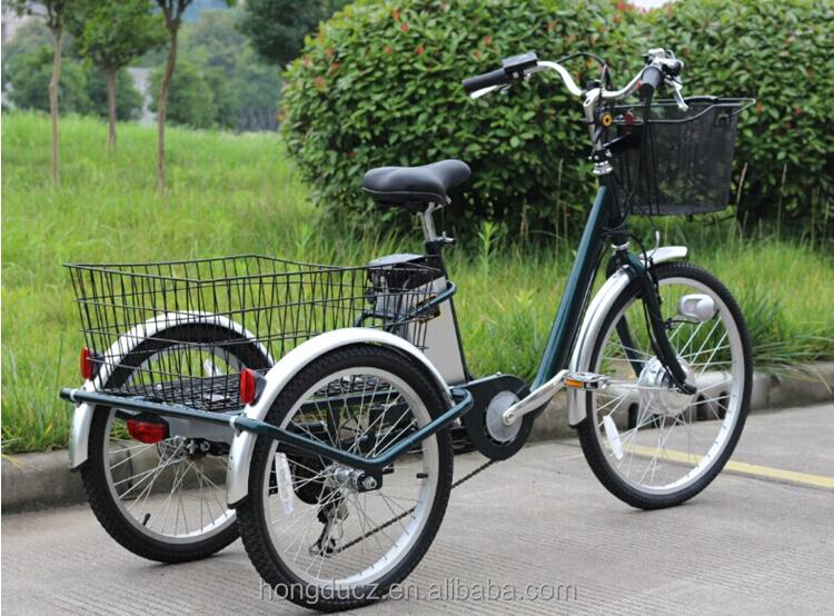 2017 New Safe Design 24 Inch 36 V 3 Wheeled Elec Bike Electric Trike