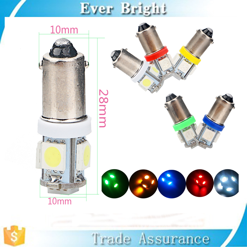 Multicolore 12 volts ba9s 5050 5smd LED lampe automatique