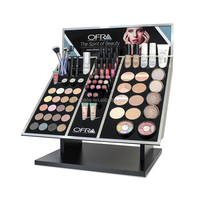 Countertop Acrylic Makeup Display Supermarket Retail Store Use Crystal Cosmetic Eyeshadow Organizer