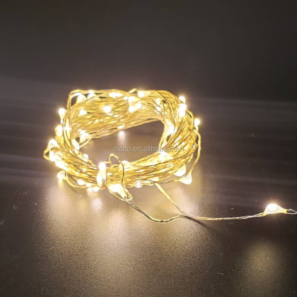 Outdoor Decoration Mini Micro Led Silver Wire Micro Led Light String Chain