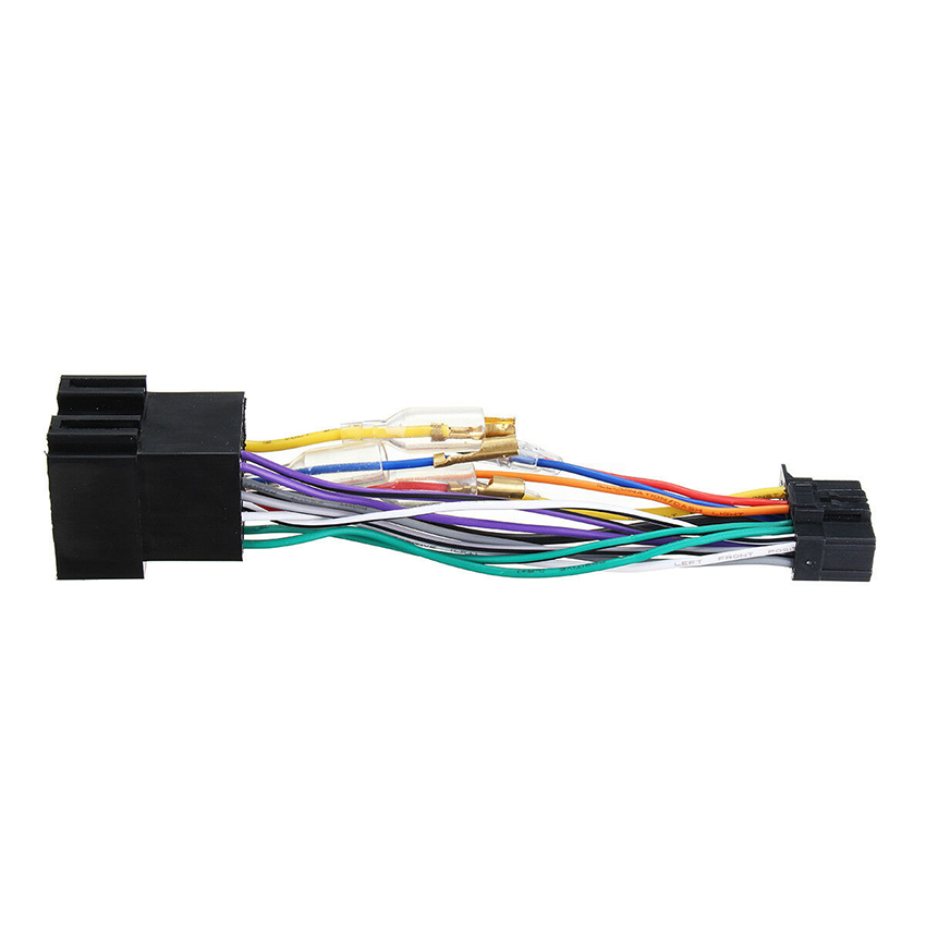 Car stereo radio ISO wiring harness connector power cable for car dvd player