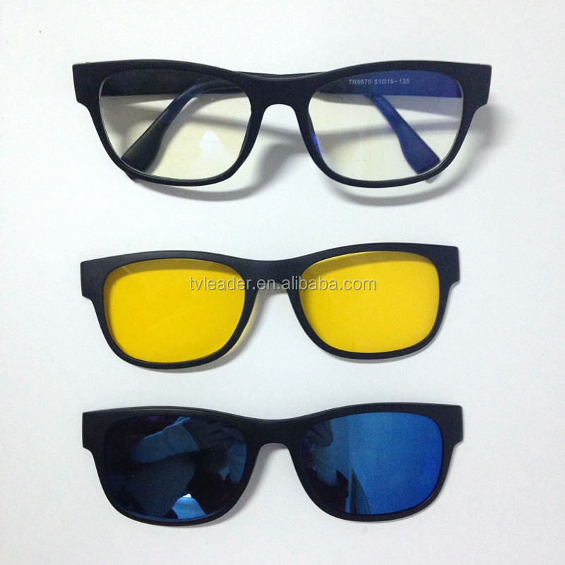 polarized amber sunglasses  As Seen On Tv Stylish Sunglasses With Quick-change Magnet Lenses ...