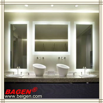Modern Hotel Bathroom Furniture Mirror With Back Lights,17 Years ...