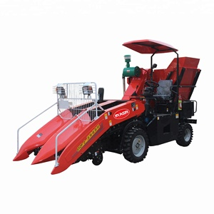 Two rows small scale self propelled harvester machine for maize