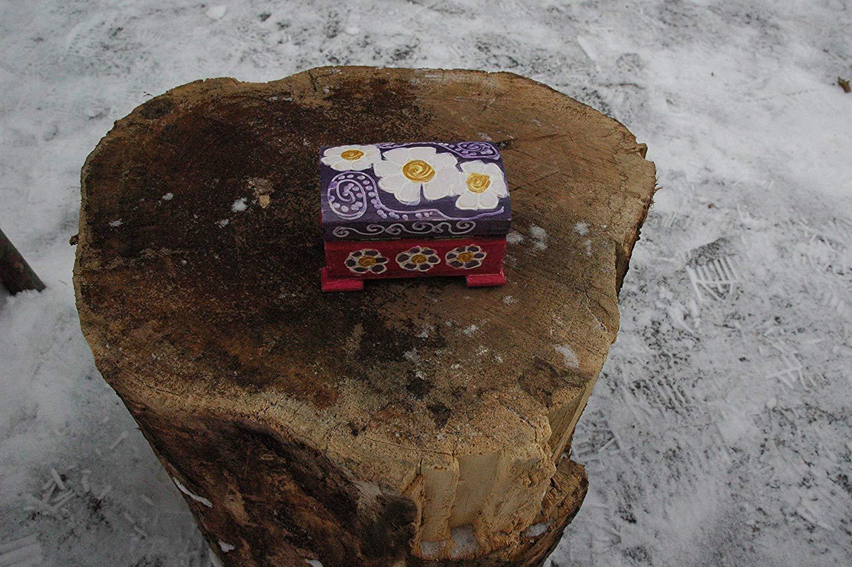 Sale!!!10% Off,Wood Hand Painted White Daisy Jewelry Box, Wooden treasure Box, Wood Box Daisy Flowers, Painted Daisies, Small wooden daisy box, Daisy Gift Box,Wedding box Daisy.