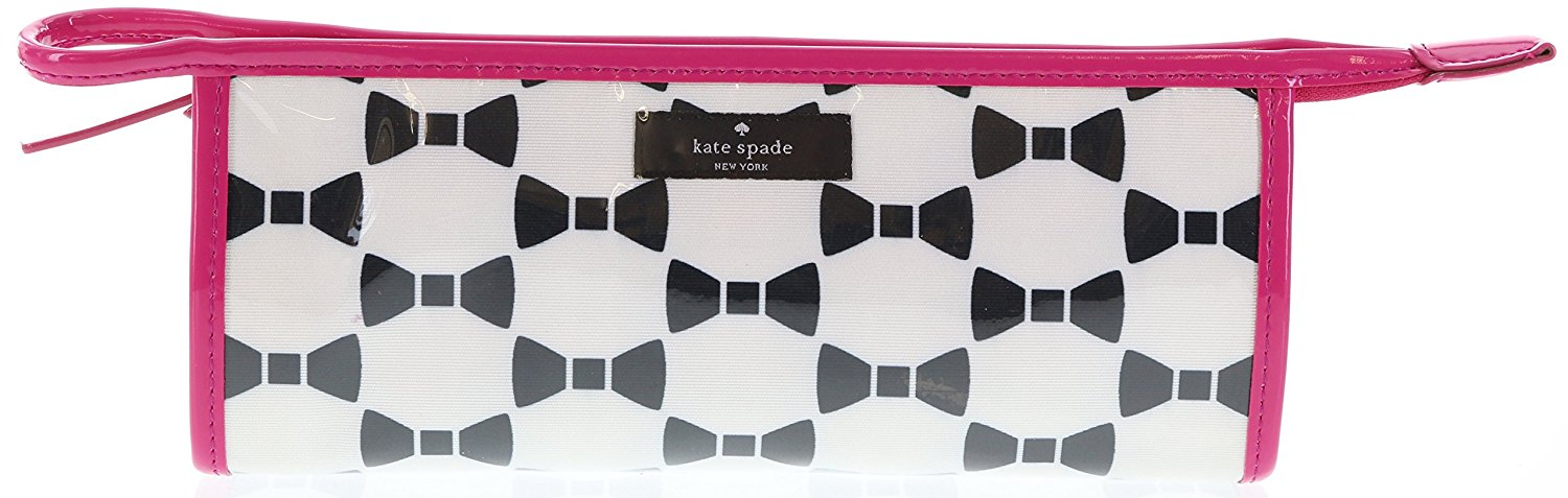 ae7a0961a8b5 Buy Kate Spade Large Colin Tuxedo Court Cream Black Cosmetic Makeup ...