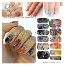 Minx Nail Art Full Cover Water Transfer Stickers Solvent Waterproof Decals Halloween Manicure Decor Tool Gel