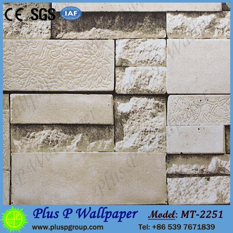 Plus brick stone heat sensitive btl pvc wallpaper gm klang