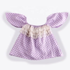 Wholesale Boutique cotton kids summer Clothing Baby Girls Lace Sleeveless Simple Design Baby Girl party Clothes Dress
