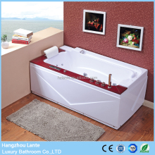 Large plastic wooden barrel bath tub spa