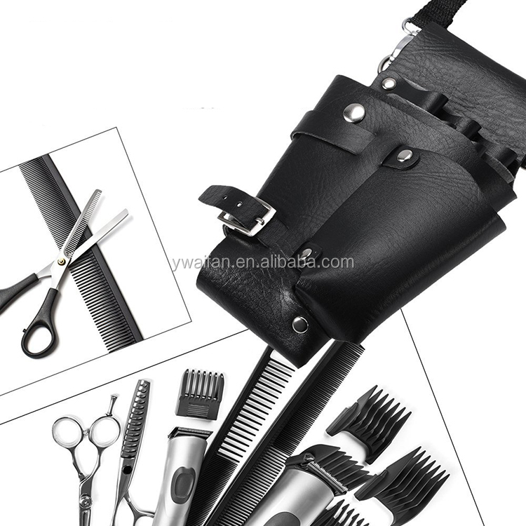 Hair Stylist Scissor Holster Holder Pouch Cases for Hairdressers Salon Tools Bag Soft Fabric Roll-Up Organizer