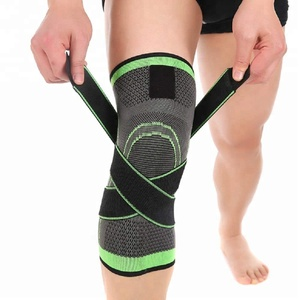 Elastic Ultra Flex Athletics Knitted Knee Compression Support Sleeve with Silicone Patella Ring Compression Knee Sleeve Brace