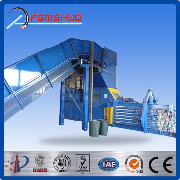 Hydraulic driven type China factory made waste management environmental and recycling Auto Scrap Baler Machine