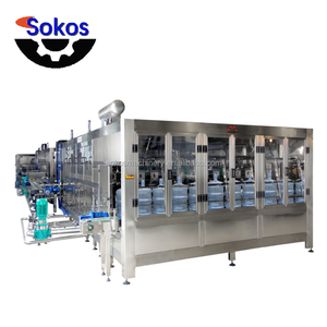 full automatic plastic barrel water filling production line, 5 gallon bucket filling machine