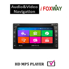 Android 4.4.4 2din universal android car pc with gps bluetooth wifi 3g 4g and pre-installed gps map