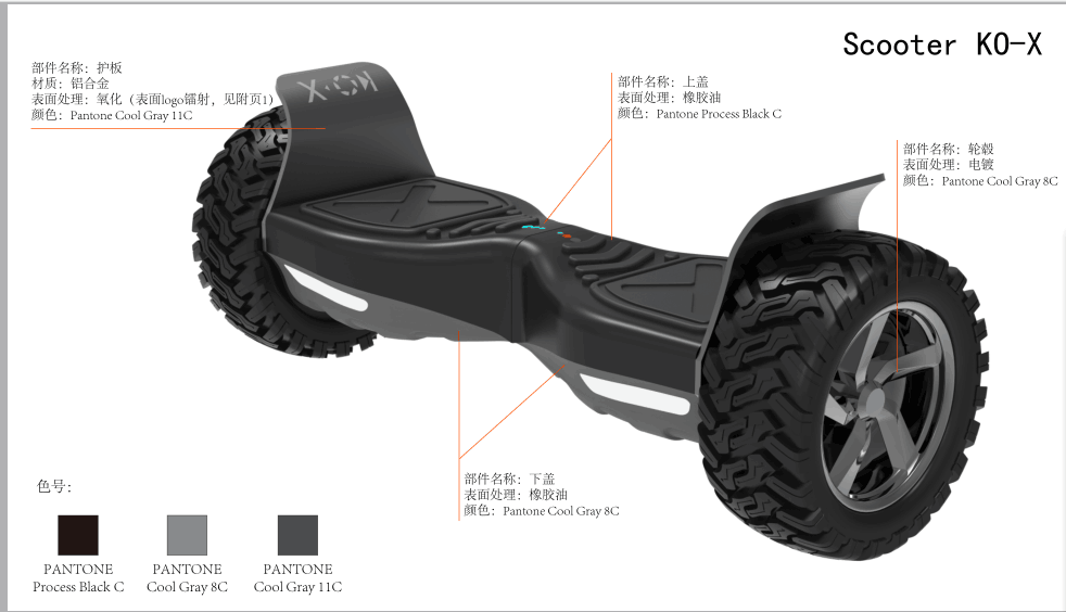 original dual wheels portable hoverboard UL2272 self balancing electric scooter with CE, FCC, RoHS certified
