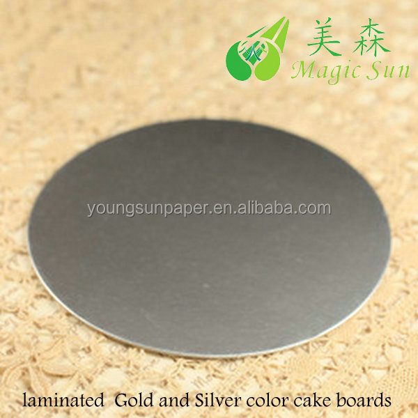 silver round cake base/cake boards wholesale/cardboard