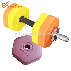 2kg standard exercise rubber dumbbel for sale