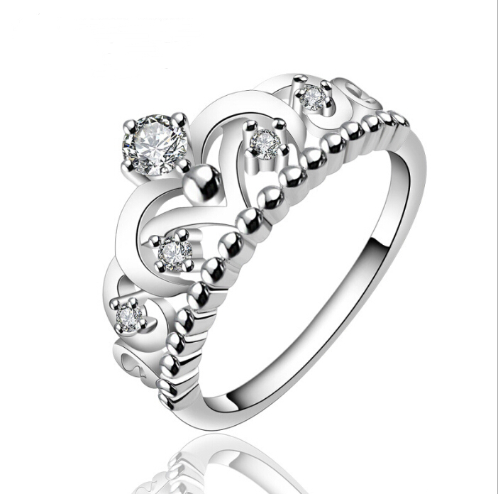 New Products Silver Color Queen Crown Ring - Buy Queen Crown Ring ...