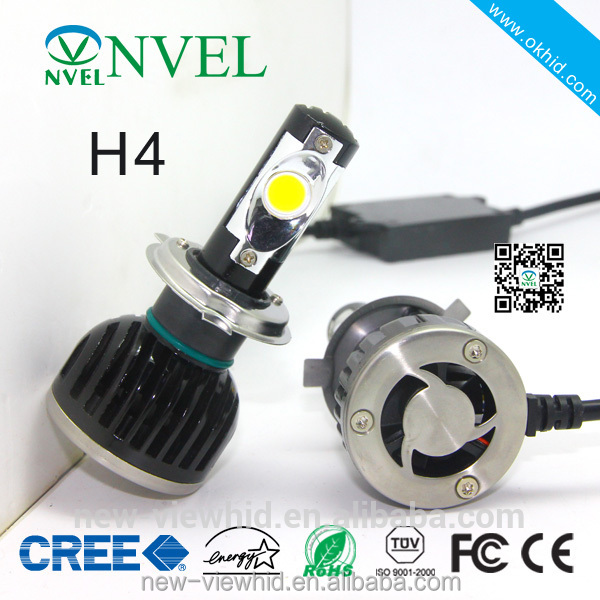New design car h3 led headlight bulbs H4 hi/lo7 inch round led headlight 12v 24v