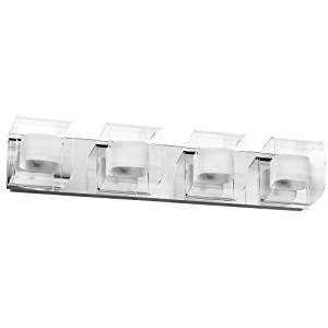 Dainolite Lighting V6015-4W-PC 4 Light Bathroom Light, Polished by Dainolite