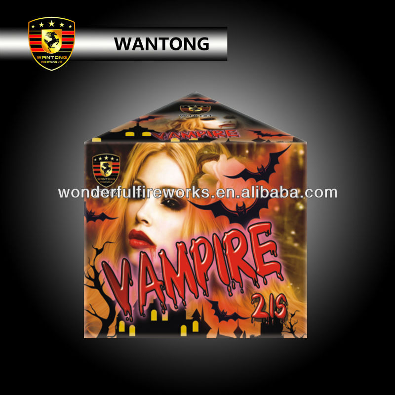 21 shots vampire triangle cake fireworks for Halloween