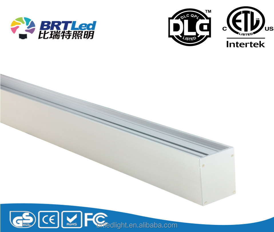 Extruded, anodized aluminium Epistar 2835 SMD/LM80 led linear luminaire