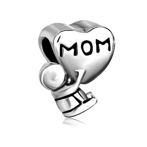 Mother Daughter Charms Mom Baby Charm Bracelet Heart European Bead