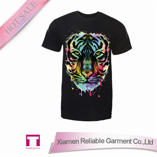 2016 Wholesale fashion blank printing silk screen printing t-shirts with 3d animal print