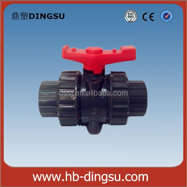 Plástico pvc/upvc válvula de bola de doble unión Fabricantes de fabricación, proveedores, exportadores, mayoristas