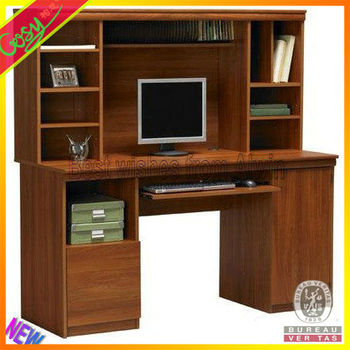 computer desk designs for home snazzy wood ikea computer desk with equipment storage unit idea feat - Computer Desk Designs For Home