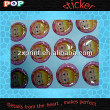 2012 popular Crystal sticker 3d Epoxy domed stickers