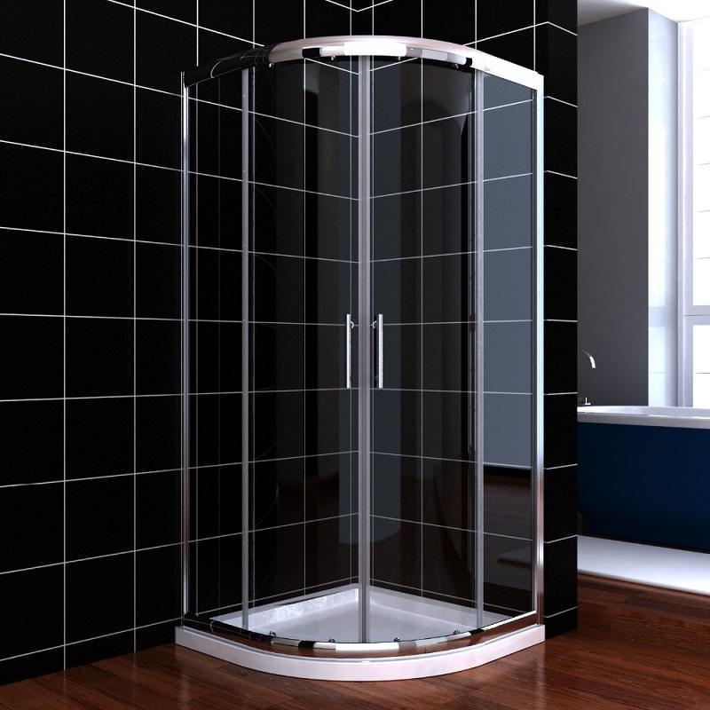 alta de aluminio de larga vida de servicio estable cabina de ducha de vidrio templado