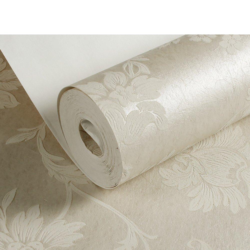 DXG&FX 3D Silk-flocked foam non-woven wallpaper bedroom living room Backdrop wallpaper -A
