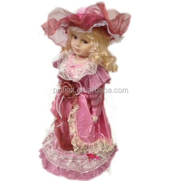 "Kids Hot Selling 16"" High Quality Porcelain <strong>Doll</strong>"