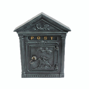 Outdoor cast iron wall mounted mailbox for garden decoration