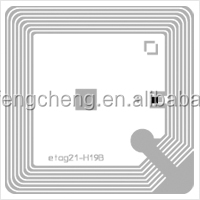 RFID Adhesive Label for Asset tracking system Substrate Made of PET can be wet inlay or made in PVC card,paper label
