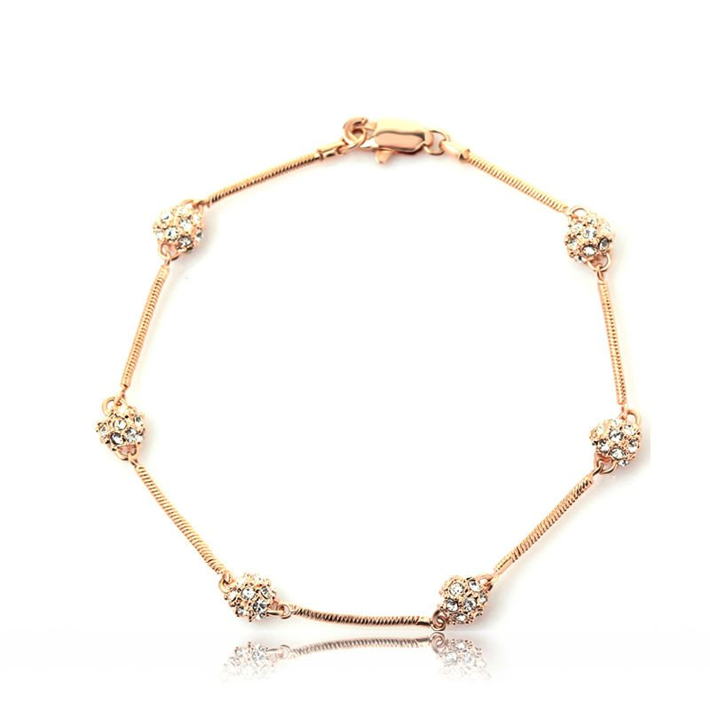 Fashion Crystal Snowball Girls Gold Bracelets - Buy Girls Gold ...
