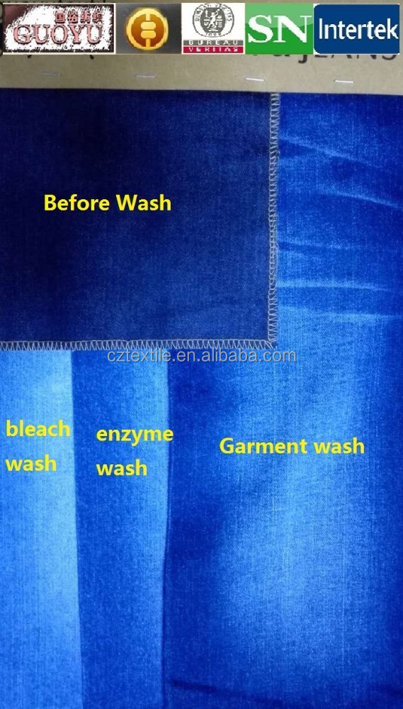 china supplied cotton/Rayon/polyester/spandex jeans denim fabrics-